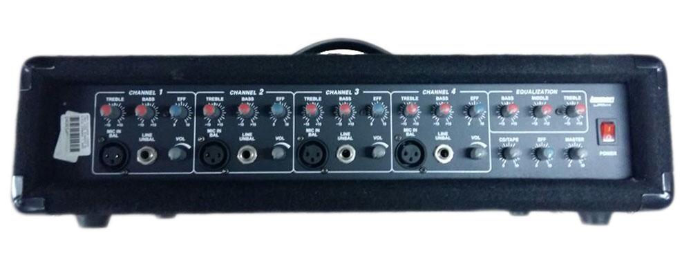AMPLIFICADOR LEXSEN LPM4 220V 4CANAIS XLR/P10 100WRMS