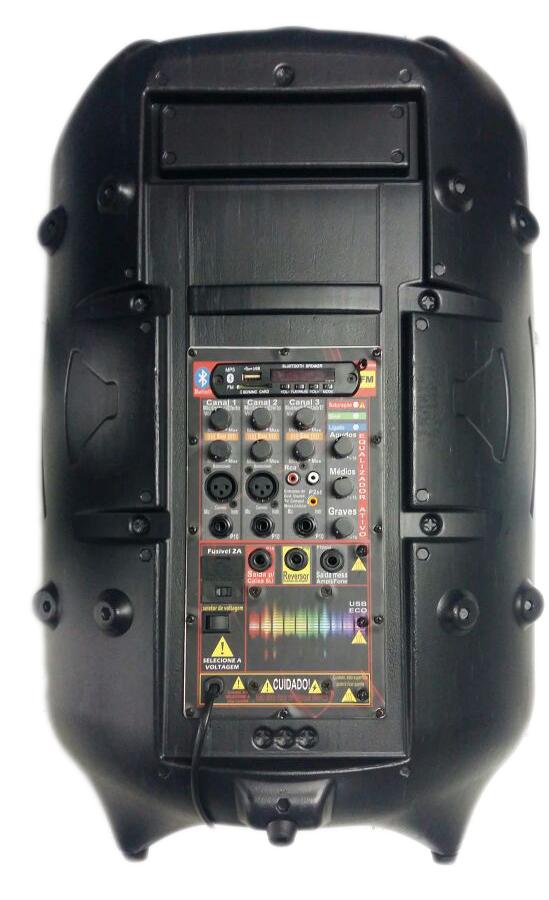 CAIXA ATIVA SUPERTECH TURBINADA PE15 676WR BLUETOOTH/USB/SD/FM,COM EFEITO