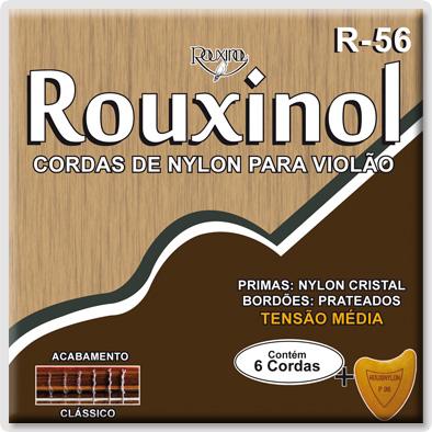 ENCORDOAMENTO PARA VIOLÃO ROUXINOL R56 CRISTAL PRATEADA TENSÃO MEDIA