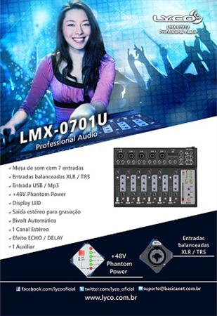 MESA DE SOM LYCO LMX-0701U