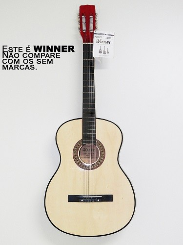 VIOLAO WINNER 11105 NYLON CLASSICO ACUSTICO NATURAL