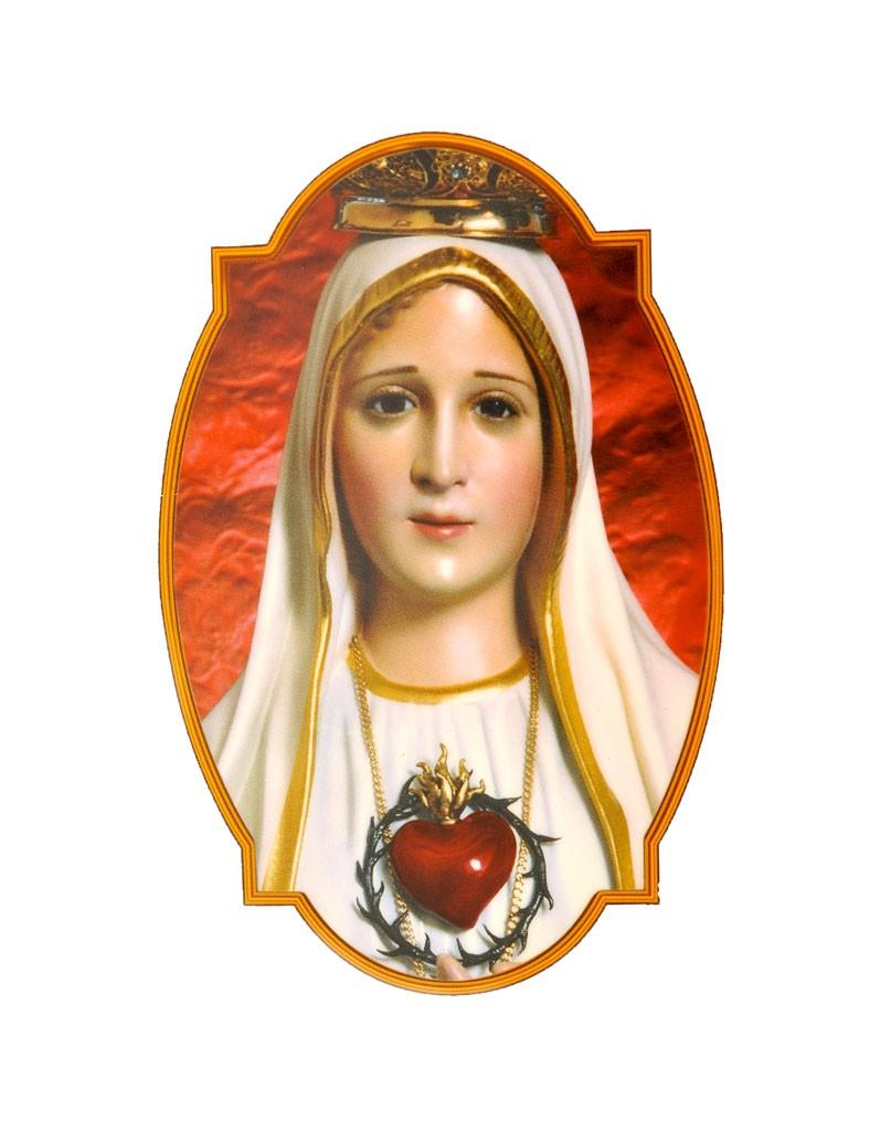 Adesivo Nossa Senhora de Fátima Para Vidro - 4 Unidades