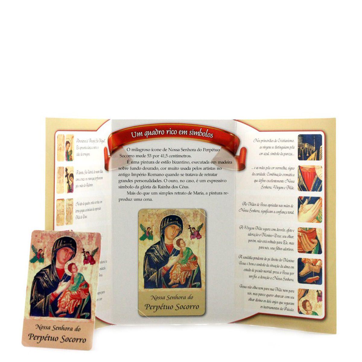 Cartão em PVC Nossa Senhora do Perpétuo Socorro + livreto