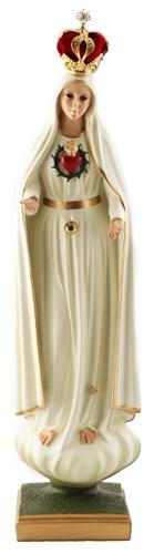Imagem de Nossa Senhora de Fátima com Coração - 55cm