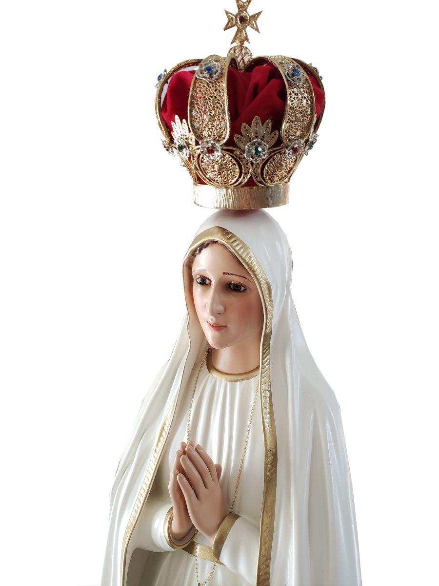 Imagem Escultura Nossa Senhora de Fátima - 120cm FRETE GRÁTIS