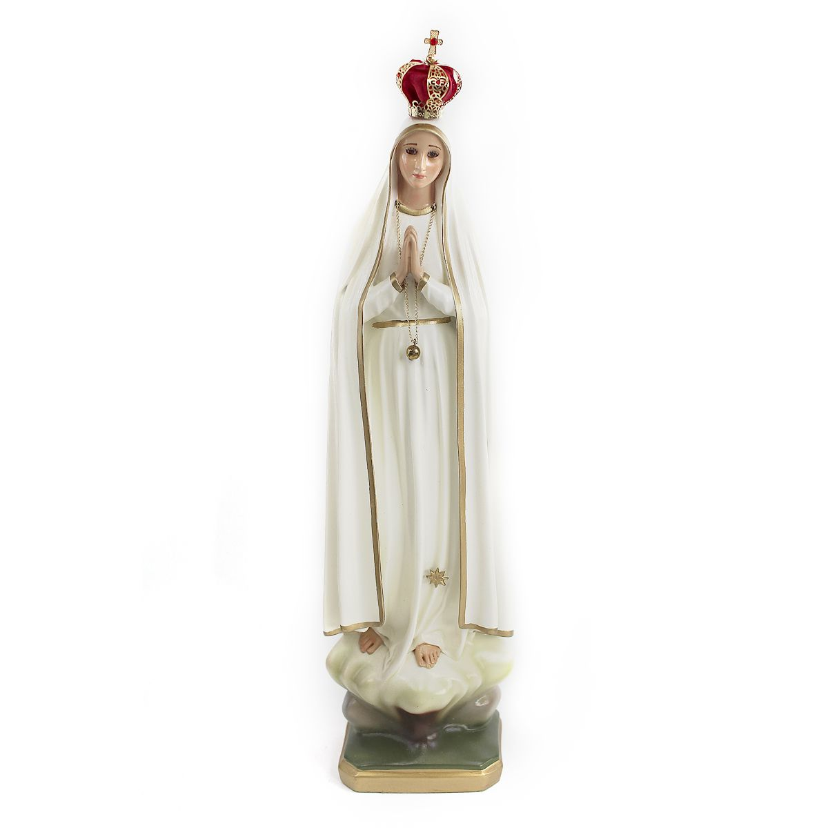 Imagem Escultura Nossa Senhora de Fátima  40cm
