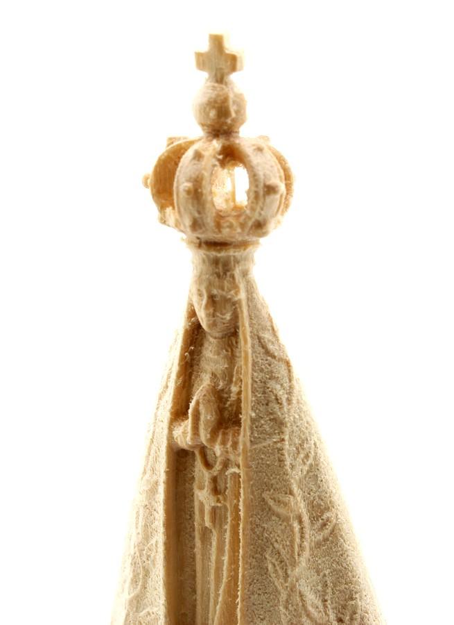 Imagem Escultura N.Sra Aparecida - madeira - 6cm