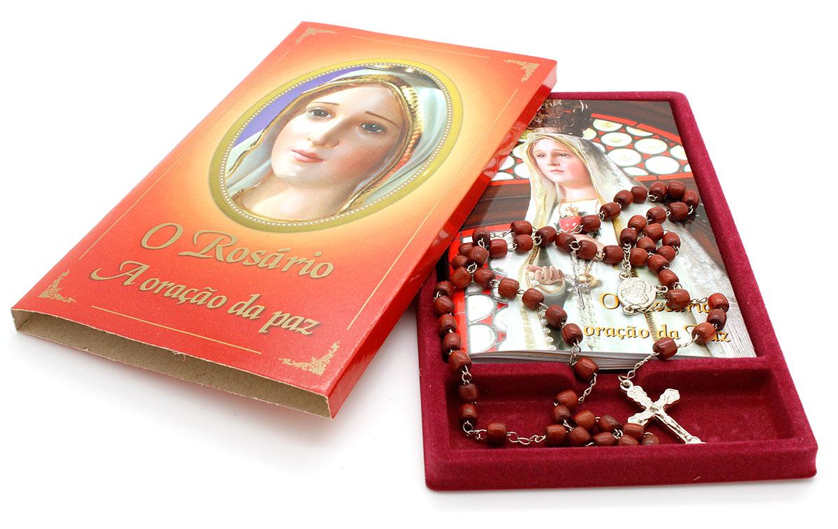 Kit O Rosário A Oração da Paz Livro + Terço