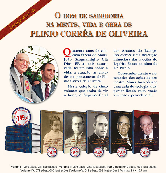 Livros da Coleção O Dom de Sabedoria na mente, vida e obra de Plinio Corrêa de Oliveira