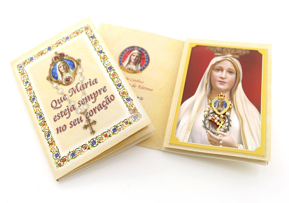 Novena Nossa Senhora de Fátima com Medalhinha Broche  de Lapela