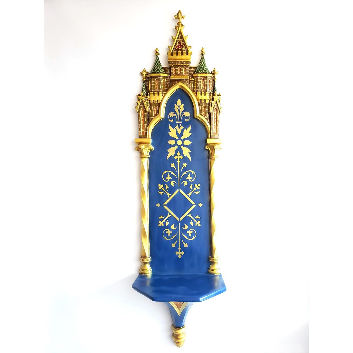 Oratório Peanha Gótica 90cm Policromada