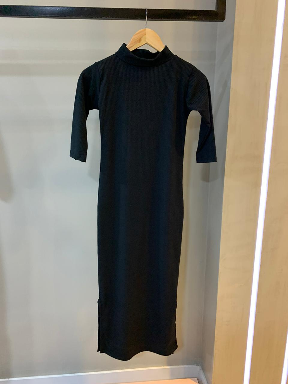 Vestido Longuete Canelado
