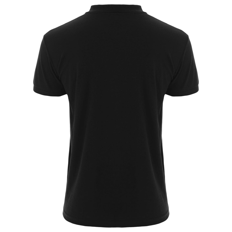 Camisa polo Everlast algodão preta com logo em amarelo