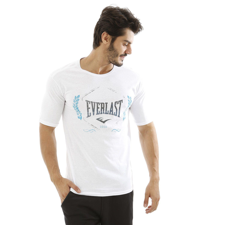 Camiseta Everlast algodão básica branca