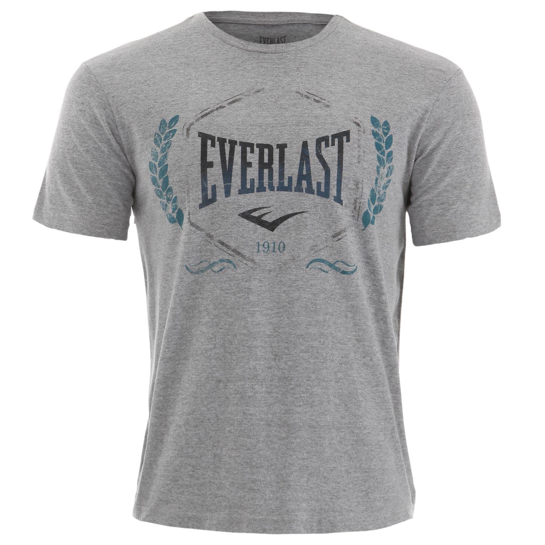 Camiseta Everlast algodão básica cinza