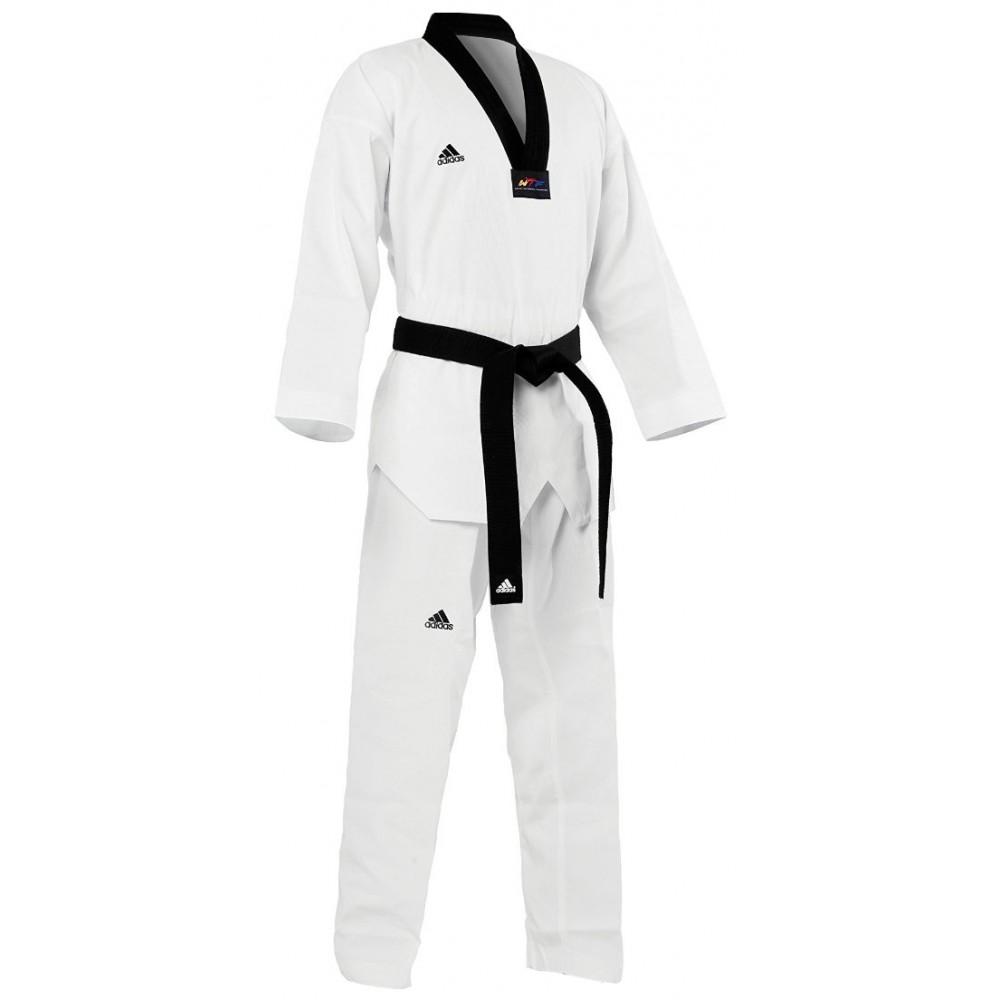 Dobok Adidas Taekwondo Adistart Gola Preta WT