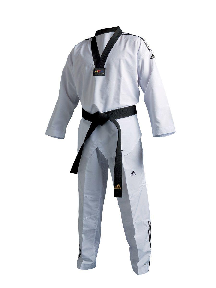 Dobok Adidas Taekwondo Fighter 3S Top de Linha Ultra Light Homologado WT