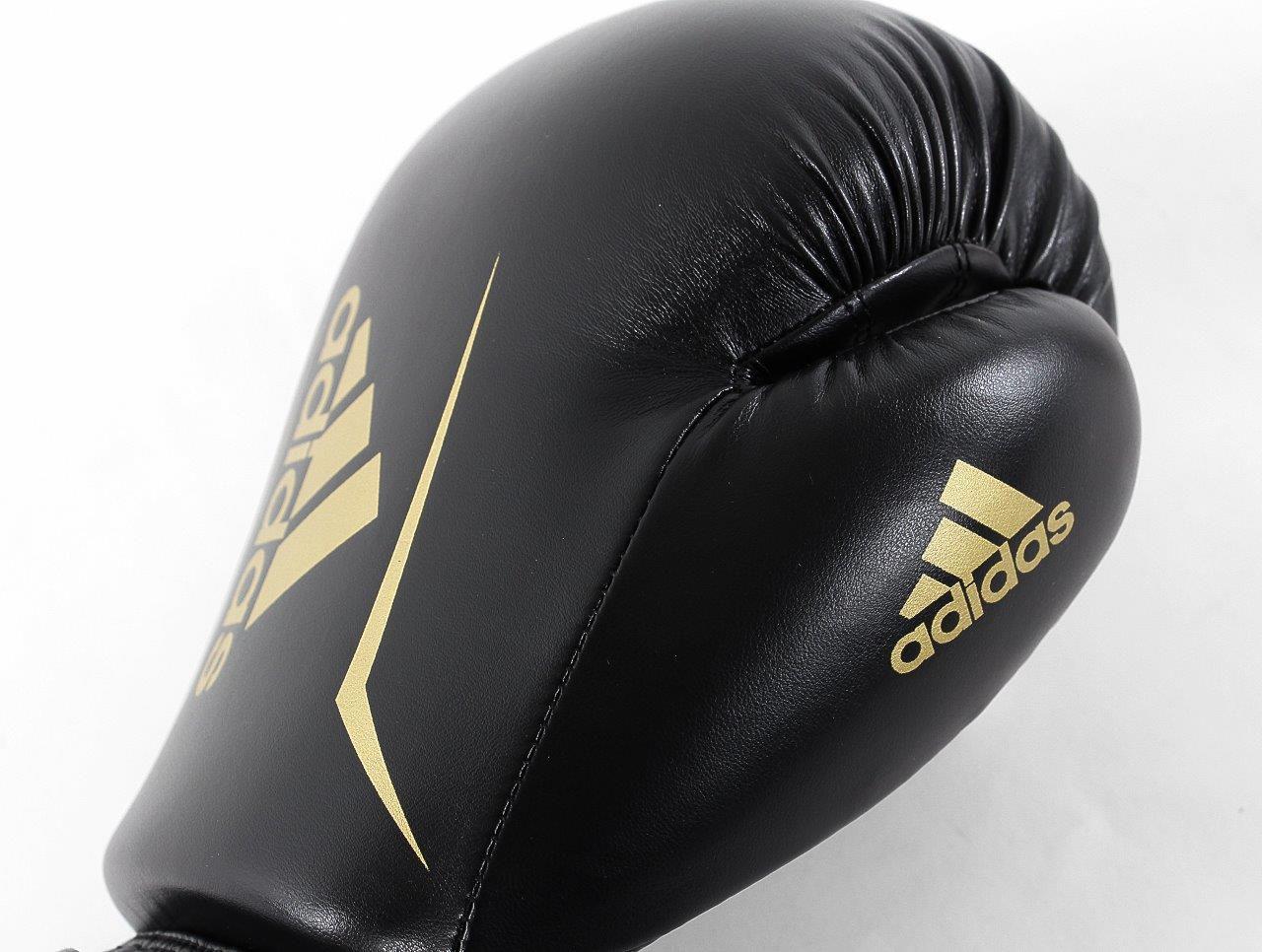 Luva de Boxe adidas Speed 50 Preto com Dourado Tam.16OZ