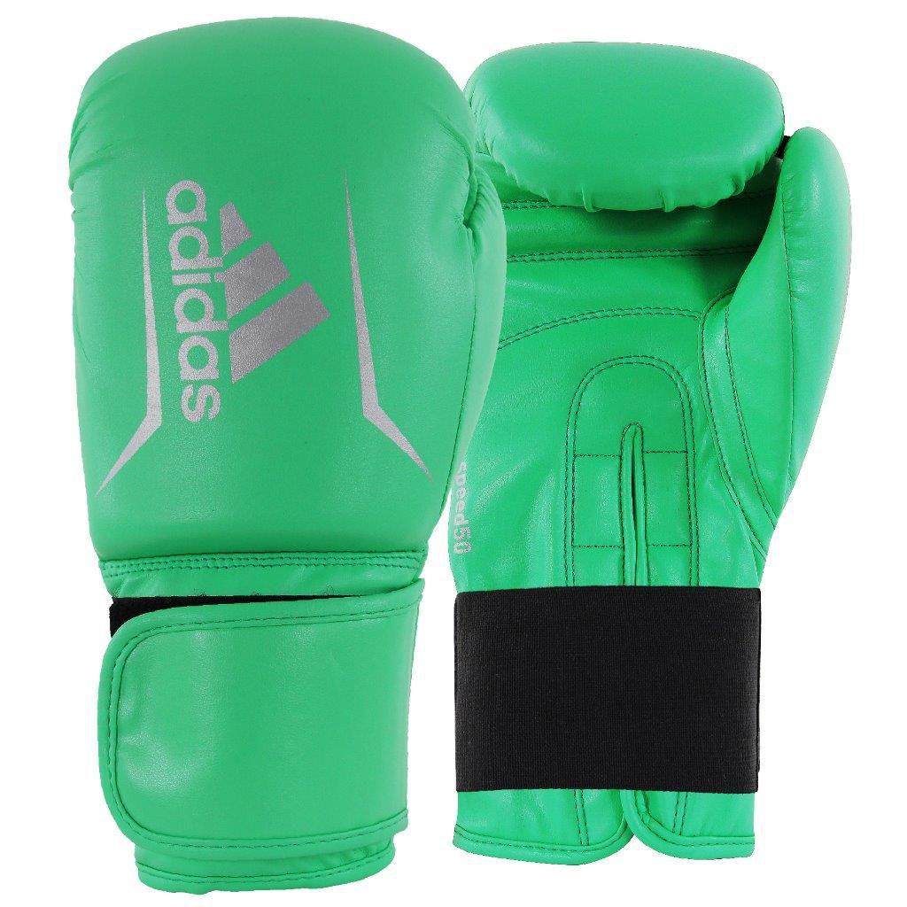 Luva de Boxe adidas Speed 50 Verde Limao com Branco Tam.12OZ