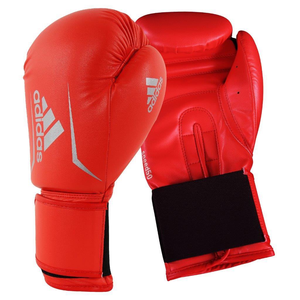 Luva de Boxe adidas Speed 50 Vermelho Solar com Branco Tam.12OZ