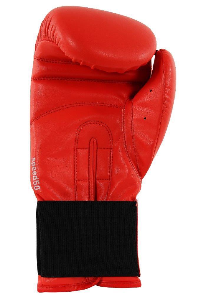 Luva de Boxe adidas Speed 50 Vermelho Solar com Branco Tam.14OZ