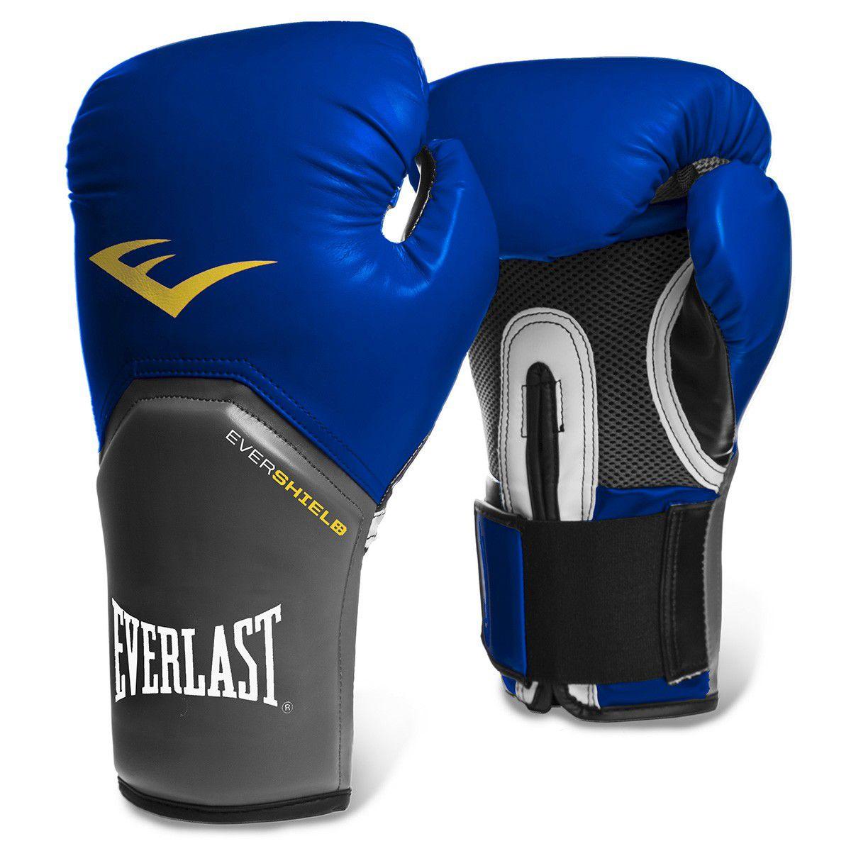 Luva de boxe Everlast Pro Style Elite Azul