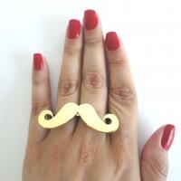 Anel Duplo Moustache