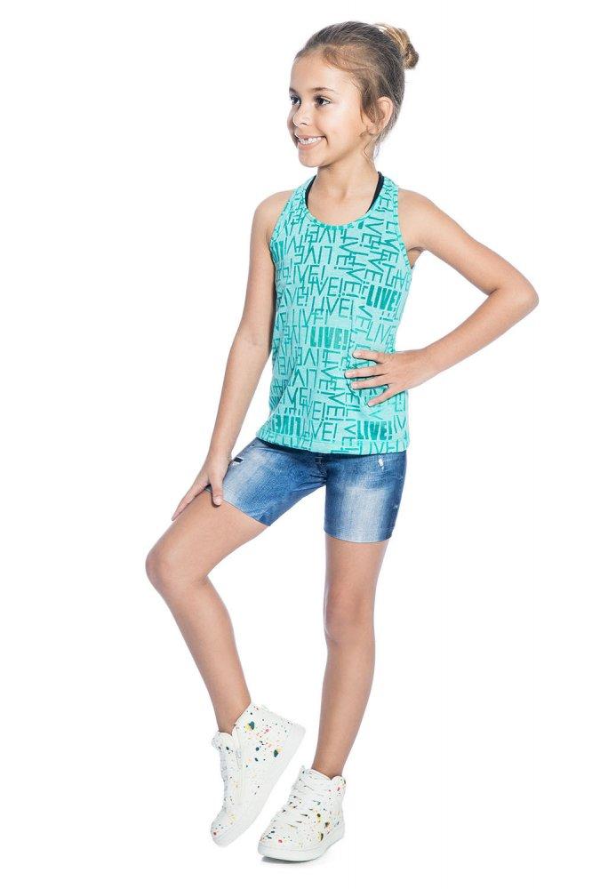 Bermuda Jeans Infantil Live