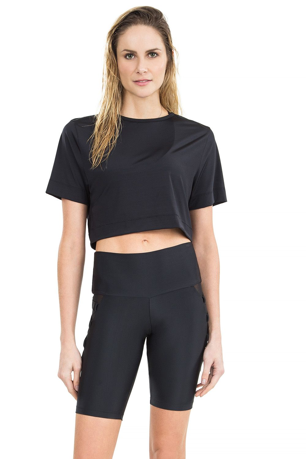 Blusa Cropped Ultimate Luxe Preto Live