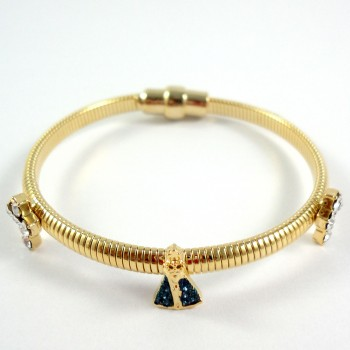 Bracelete Italiano Nossa Senhora Dourado
