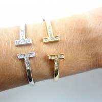 Bracelete T Strass