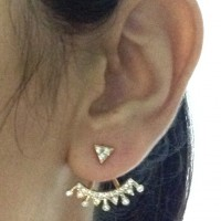 Brinco Ear Jacket Dourado