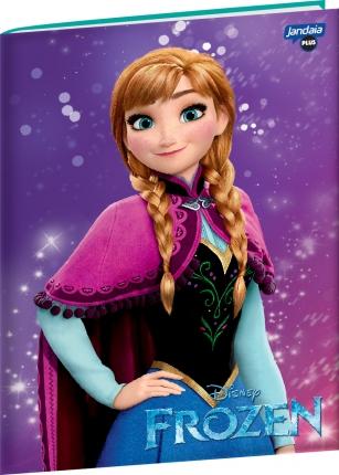 Caderno Brochura Universitário Frozen Magic Anna Jandaia