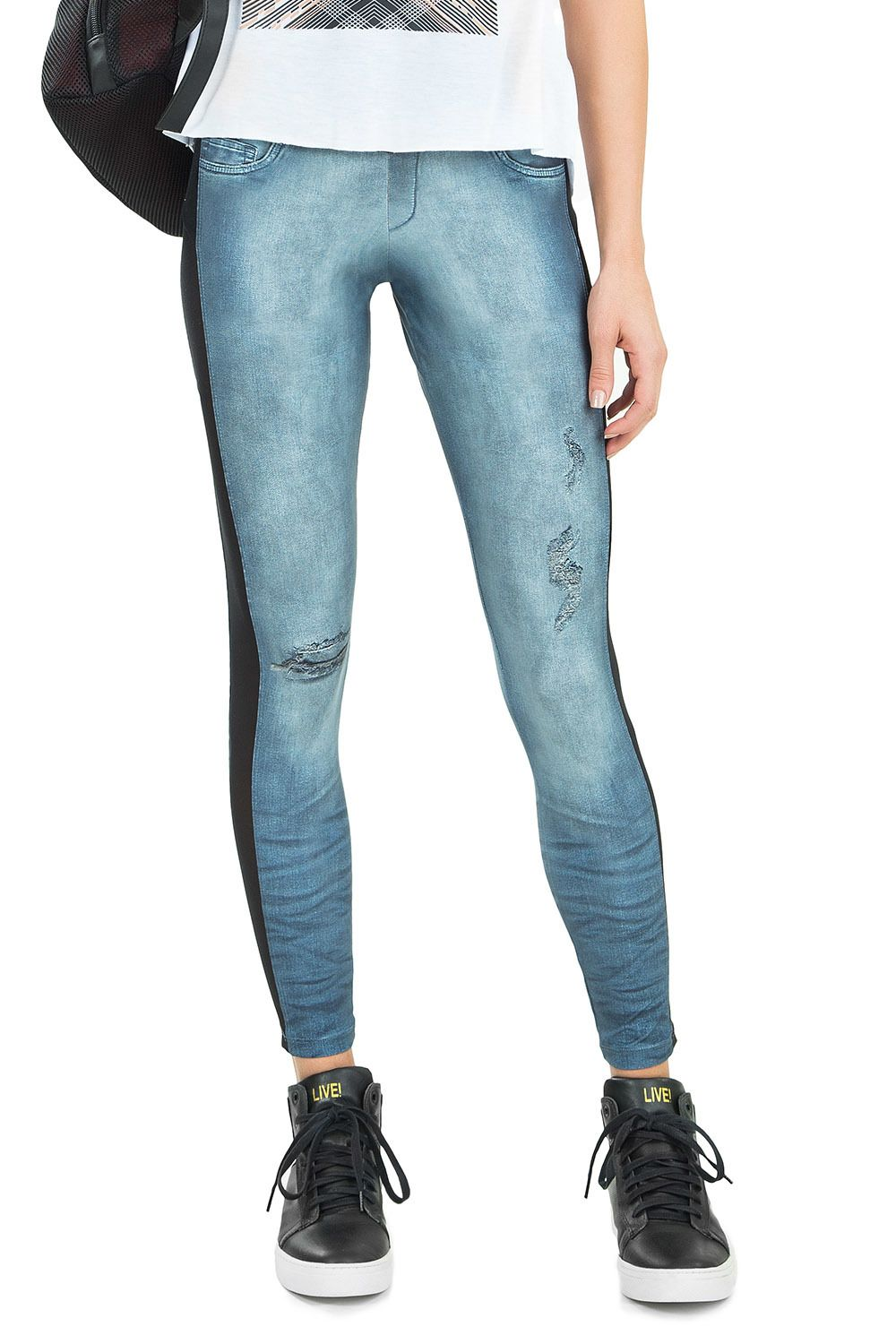 Calça Legging Jeans Mix And Match Live