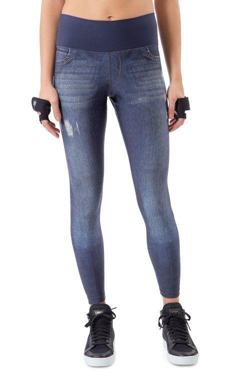 Calça Legging Jeans Reversible Flux Live