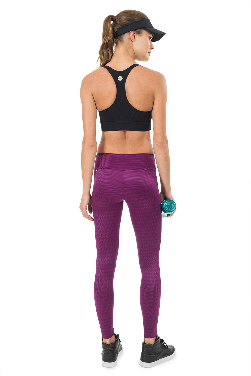 Calça Legging Zig Essential Bordo Live