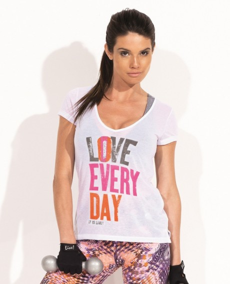 Camiseta Love Every Day Live