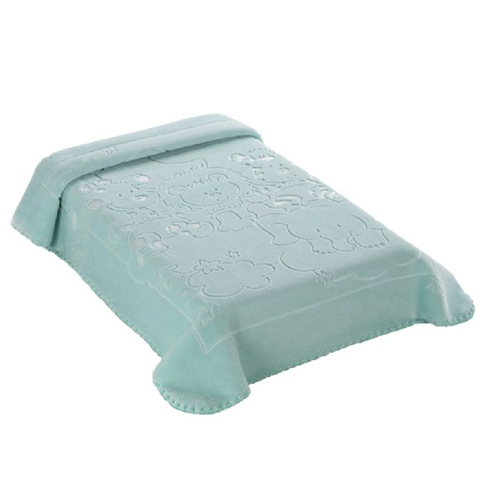 Cobertor Exclusive Relevo Bichinhos Azul Colibri