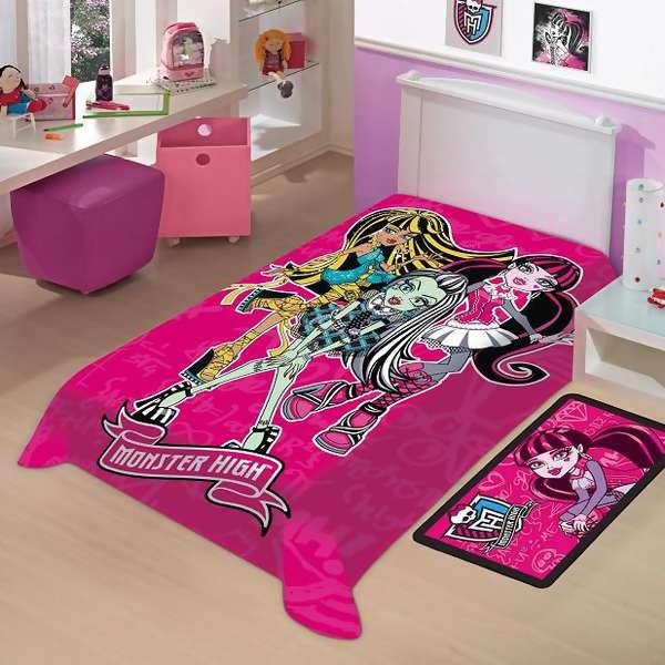 Cobertor Monster High Raschel Solteiro Jolitex