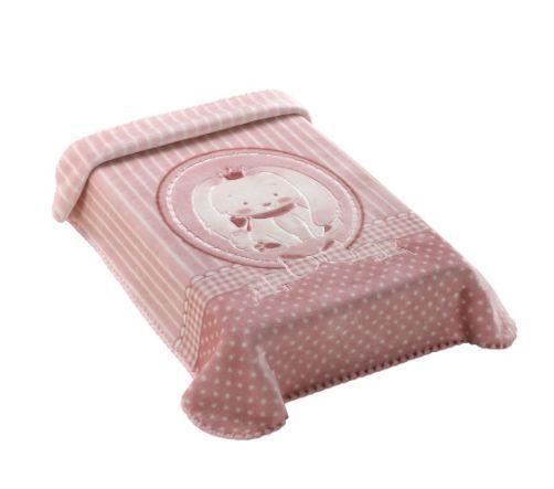 Cobertor Premium Estampado com Relevo Coelho Rosa Colibri