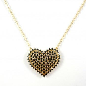 Colar Heart Dourado - Semi Joia
