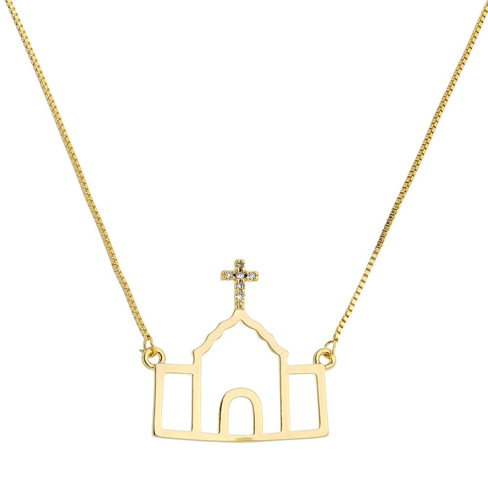 Colar Igrejinha Dourado