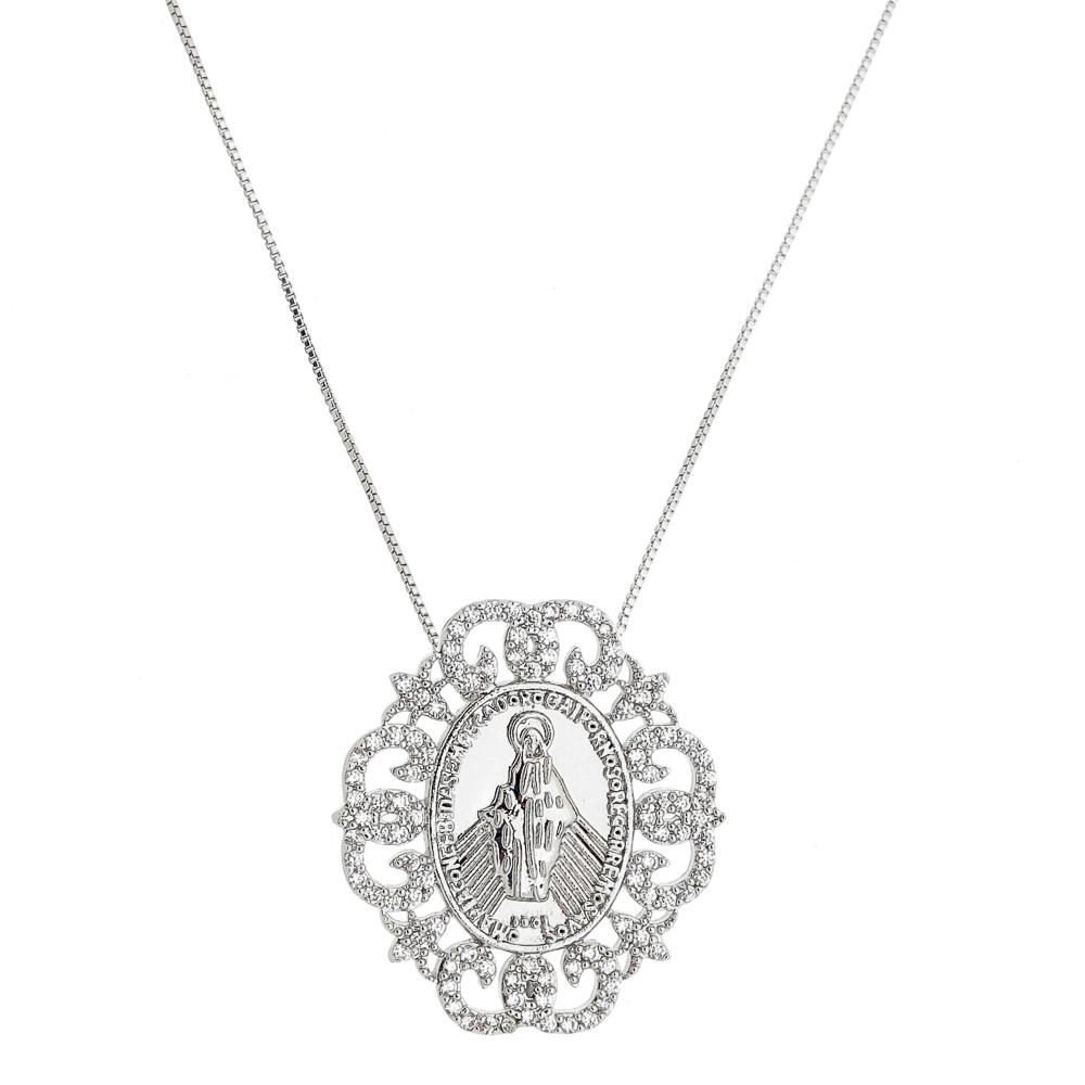Colar Medalha Nossa Senhora – Semi Joia