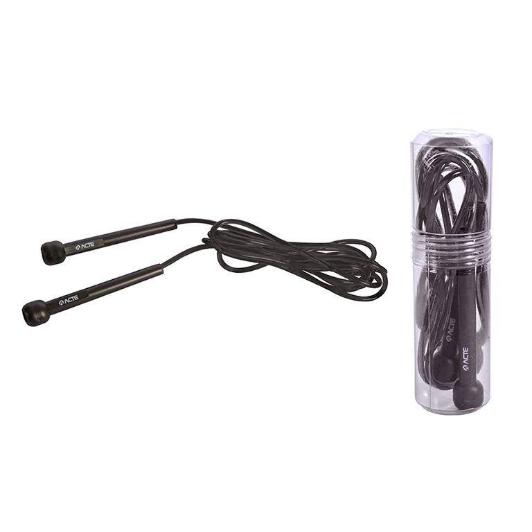 Corda de Pular no tubo Preto T95 Acte Sports