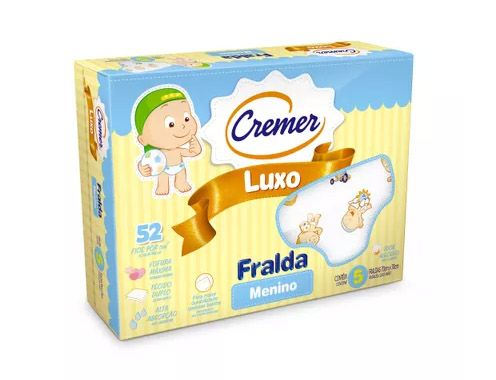 Fralda Luxo Estampada Menino Cremer