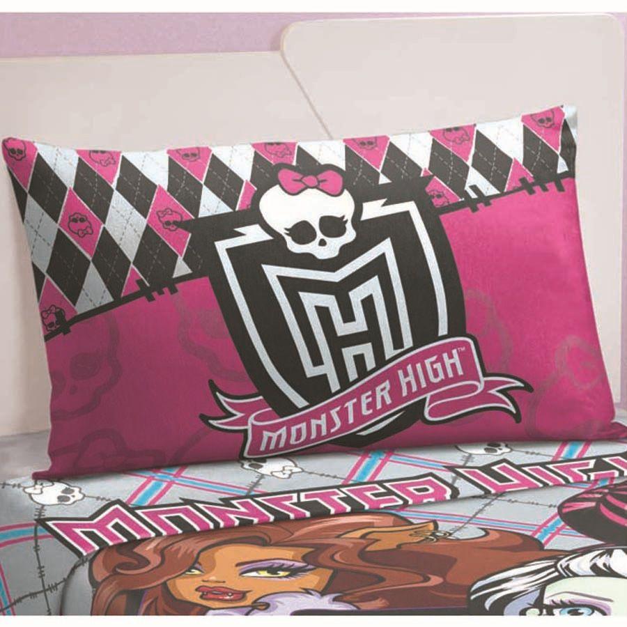 Fronha Infantil Monster High 50X70cm Lepper