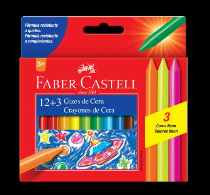Giz de Cera Fino 15 Cores Faber Castell