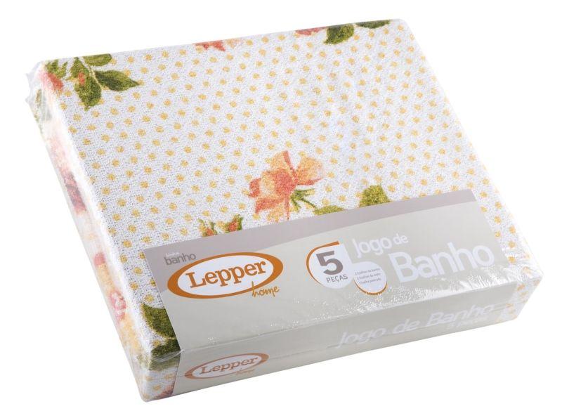 Jogo de Banho Flora 5 peças 042364 Lepper