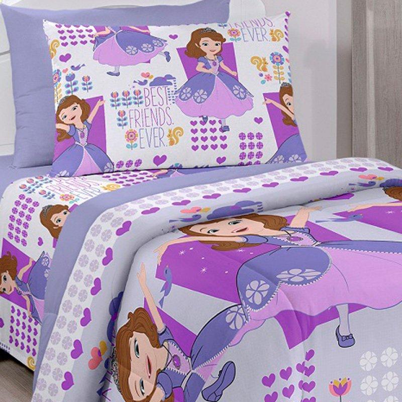 Jogo de Cama Solteiro Sofia Friends Disney Santista