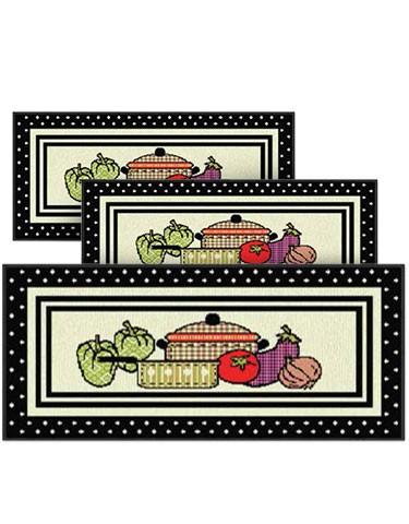 Jogo de Tapete para Cozinha 3 peças Cookery J. Serrano